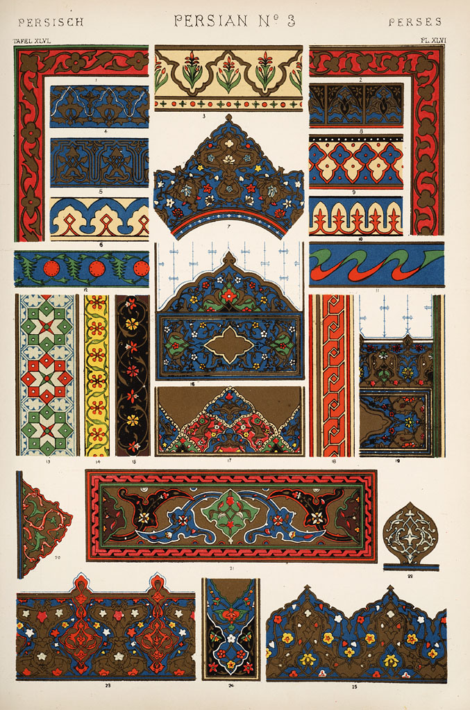 Persian number 3. Plate XLVI.