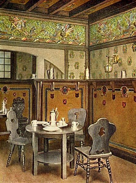 Dining room. 1906-1907.
