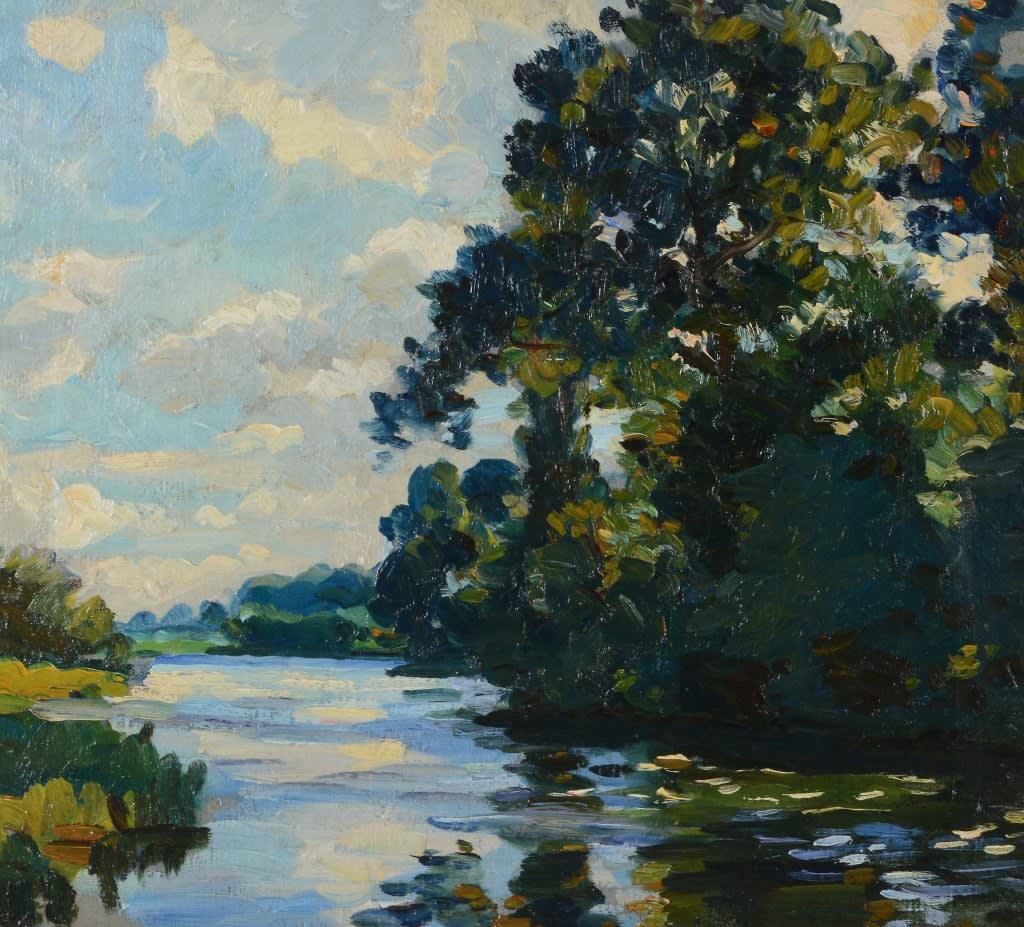 """Thames Landscape."" Undated."