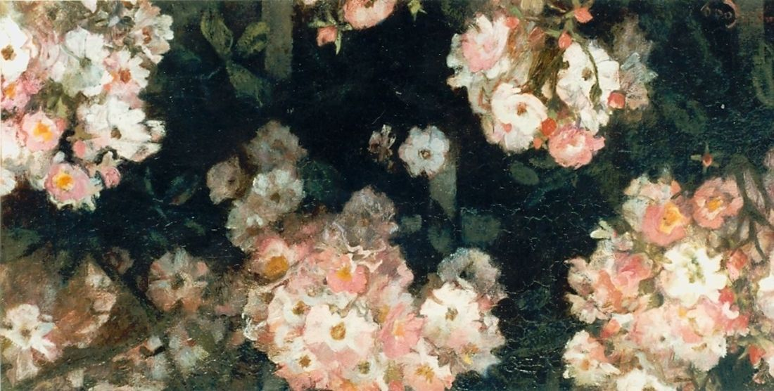 """""""Roze bloemen."""" Undated."""