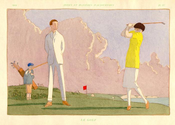 """""""Le Golf,"""" from  """"Modes et Manières d'aujourd'hui."""""""