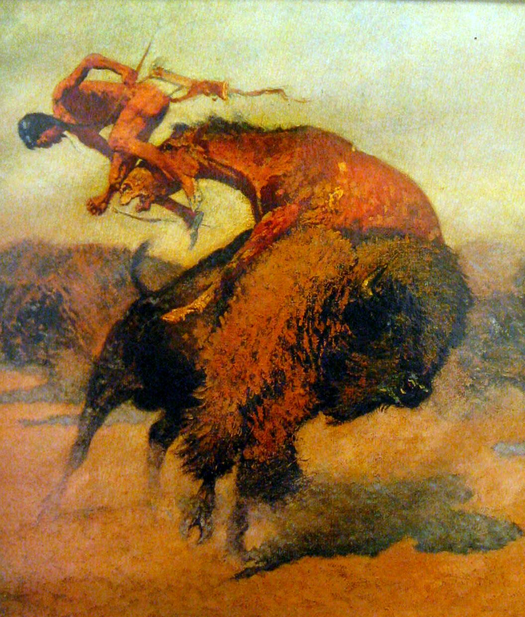 """The Episode of the Buffalo Hunt."" 1895."