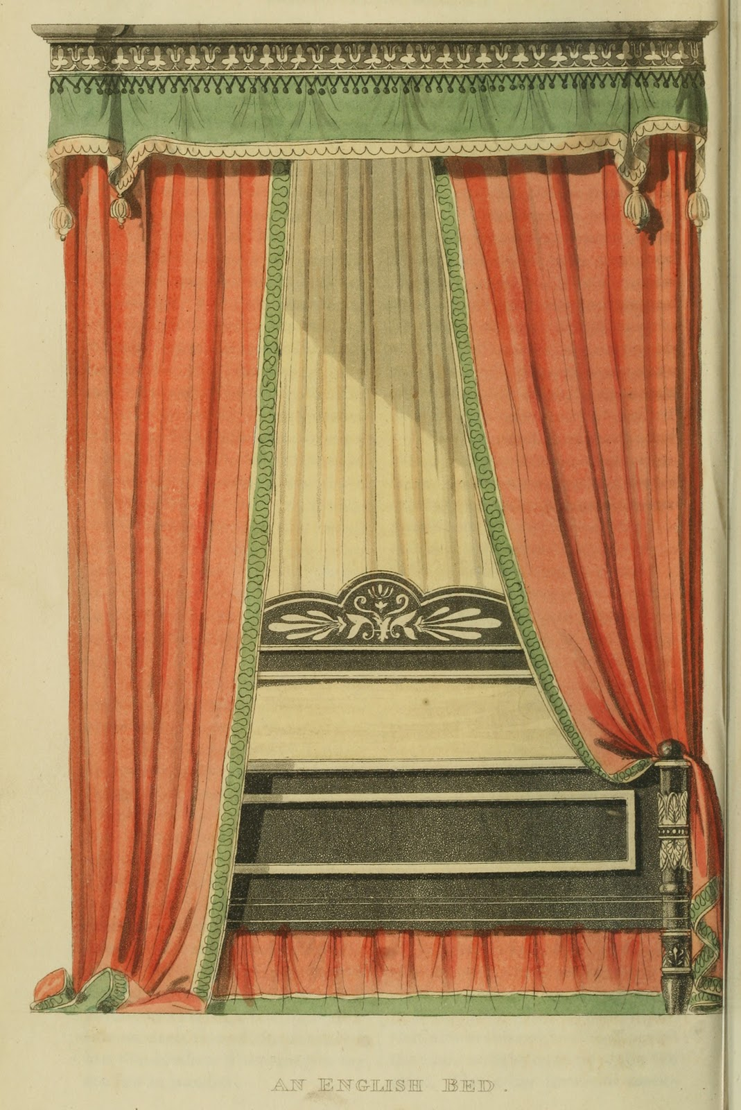 """An English bed."" Plate 26."