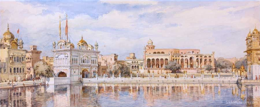 """""""Tank & Marble Causeway the Sikh Temple Amritsar."""""""