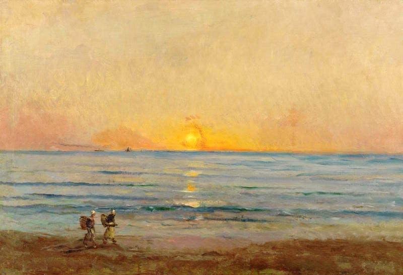"""""""Sunset near Villerville."""" ca. 1876."""