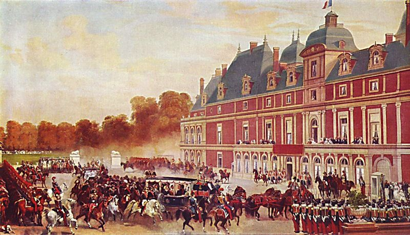 """The Visit of Queen Victoria Château d'Eu ."" 1843."