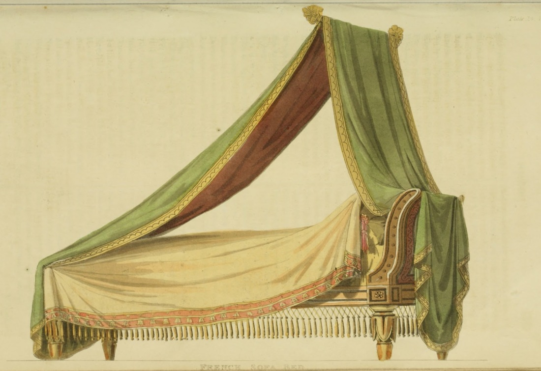"""French sofa bed."" Plate 14."
