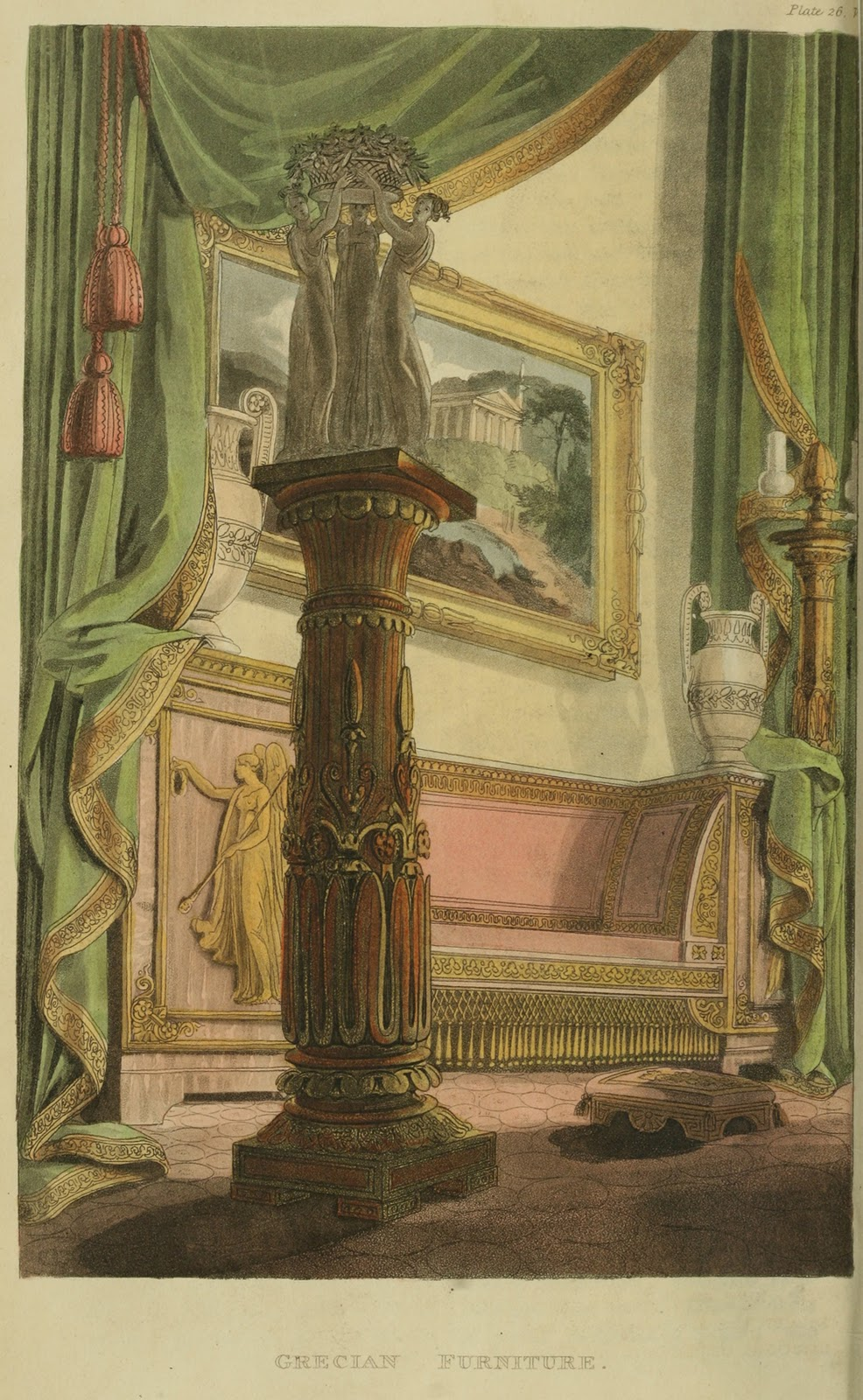 """Grecian Furniture."" Plate 26."