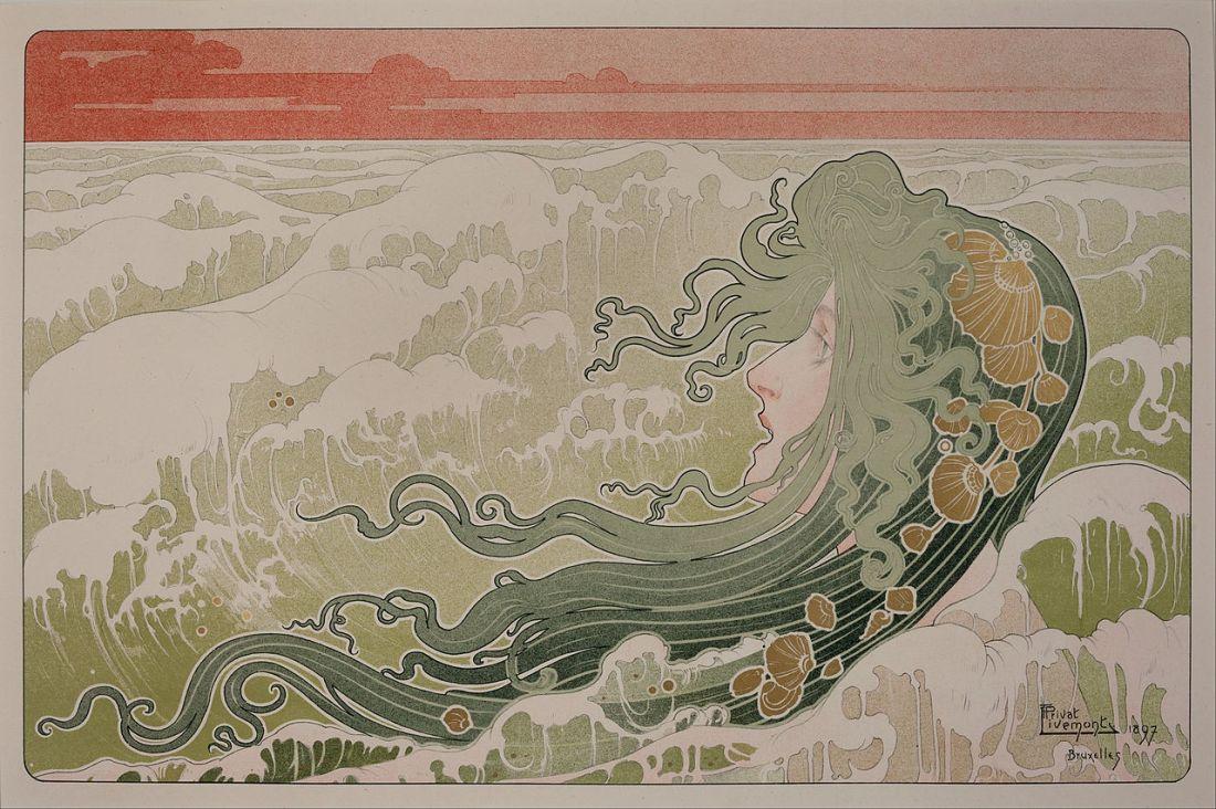 """""""La Vague""""  (The Wave). 1897."""