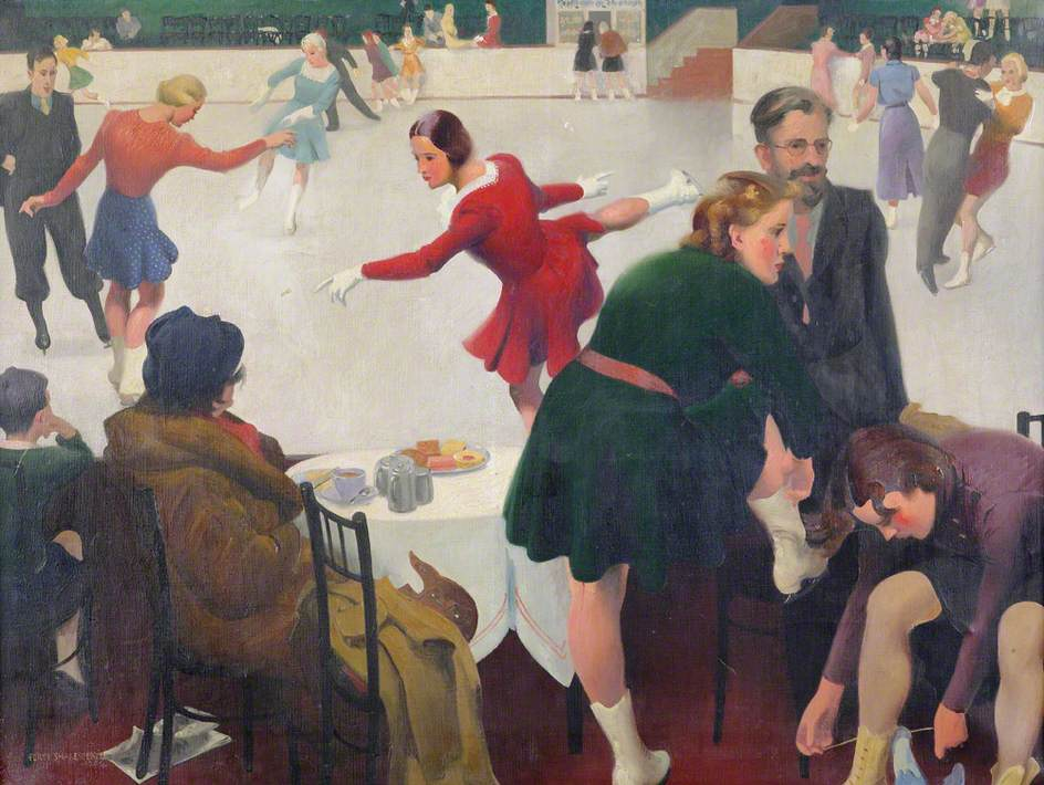 """""""Afternoon at the Ice Rink."""" Undated."""