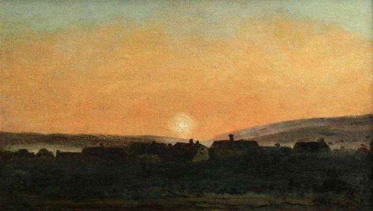"""Sunset."" ca. 1860."