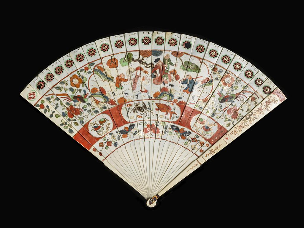 Brisé Fan. ca. 1710-1720.