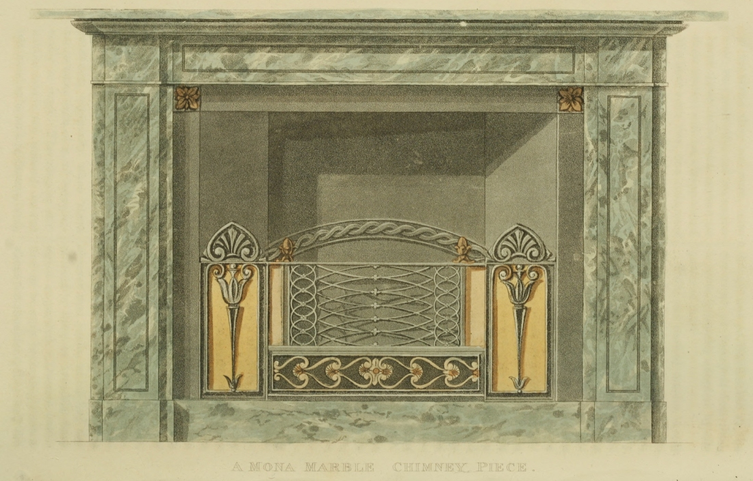 """Chimney piece of Mona marble."" Plate 2."
