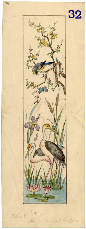 Design with three birds. Undated.