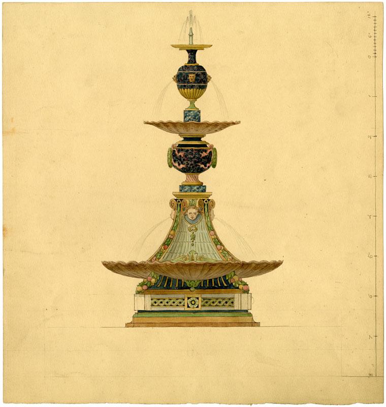 Fountain design.