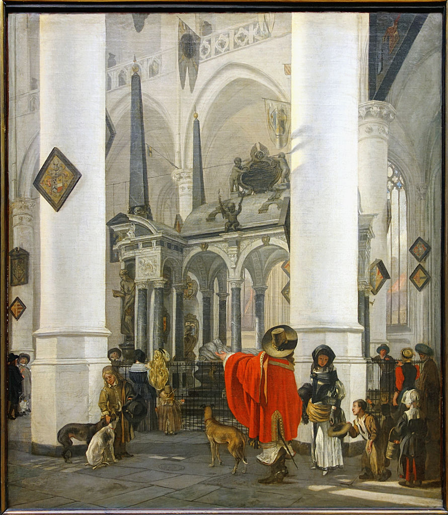 """View of the Tomb of William the Silent in the New Church in Delft."" 1656."