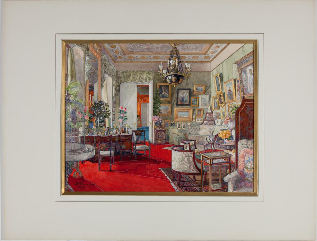 Salon of Grand Duchess Ella. 1902.