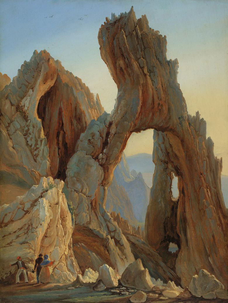 """Arco Naturale, Capri."" 1833."