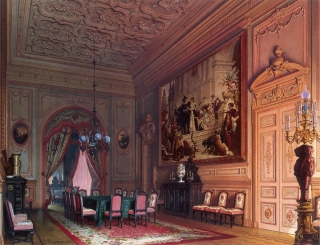 Dining room (candelabra detail), Mansion of Baron A. L. Stieglitz. ca. 1869.