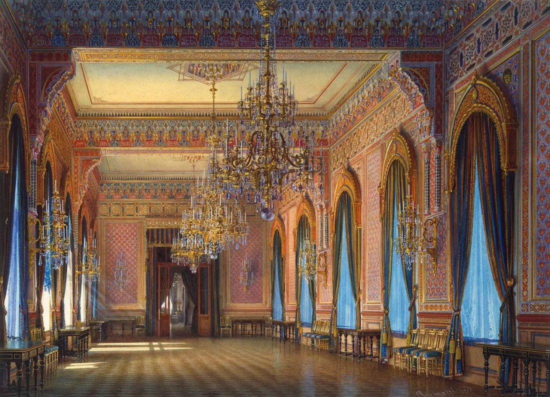 Supper room, mansion of Baron Stieglitz. 1871