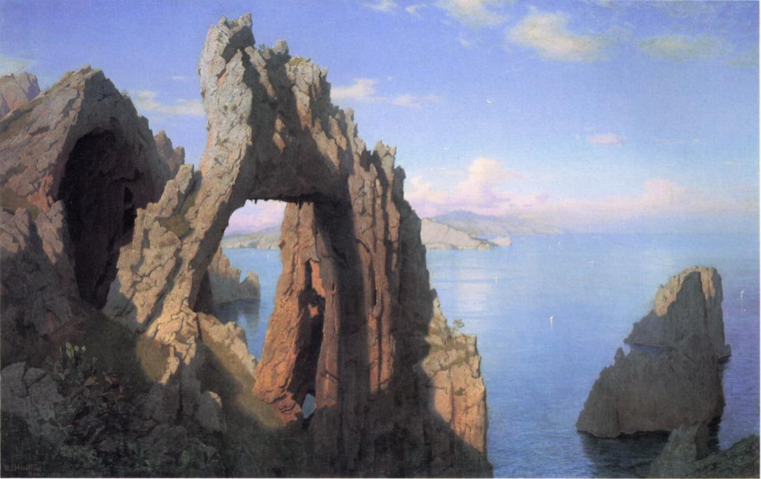 """Arco Naturale, Capri."" ca. 1870."