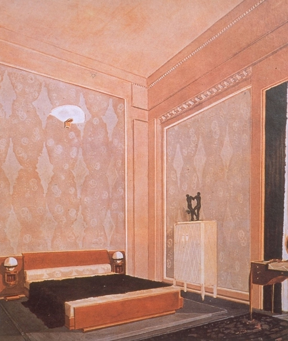 Bedroom in the Hotel du Collectionneur.