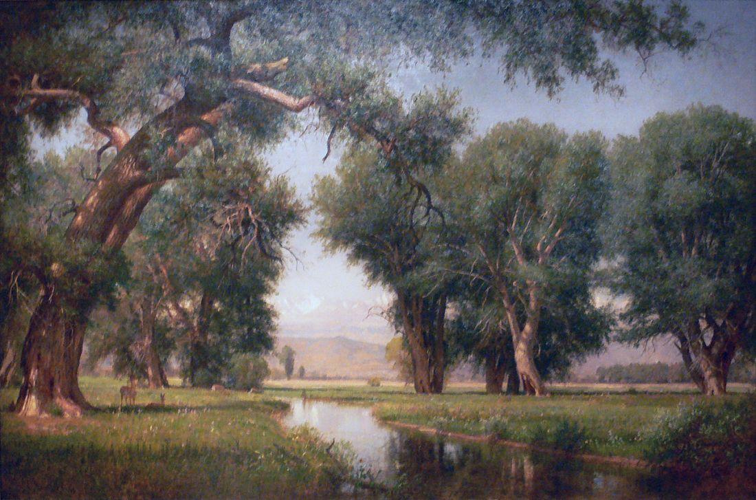"""""""On the Cache La Poudre River, Colorado."""" 1876."""