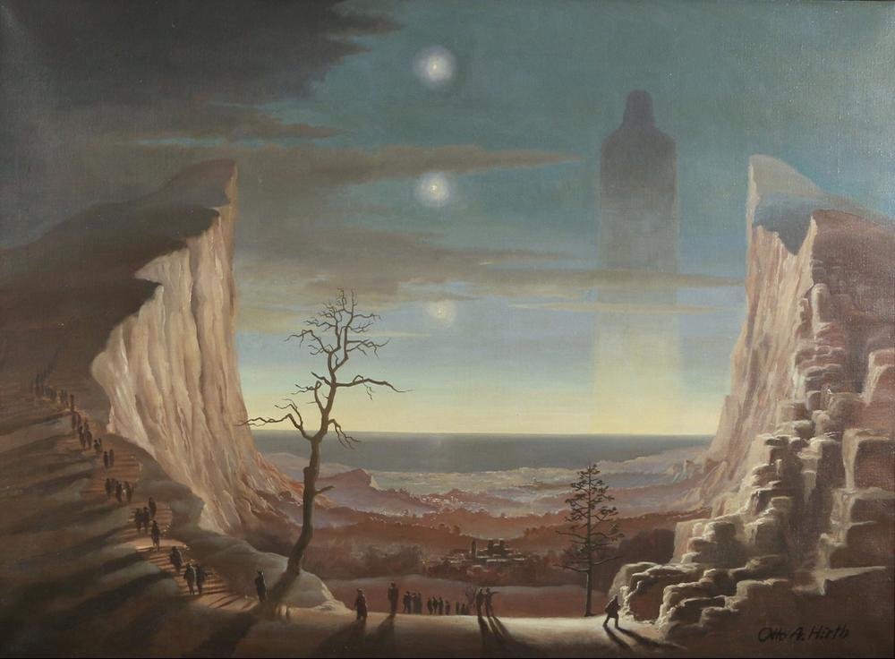 Cliffside landscape. 1937.