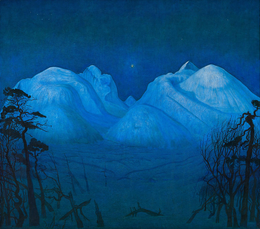 """Winter Night in the Mountains."" 1914."