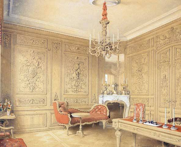 Interior, Peterhof dacha. 1852.