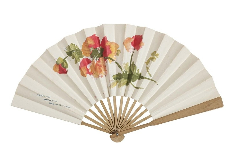 Fan for an advertising campaign for the Ermitage Restaurant Bois de Boulogne, Paris. 1910-1920.