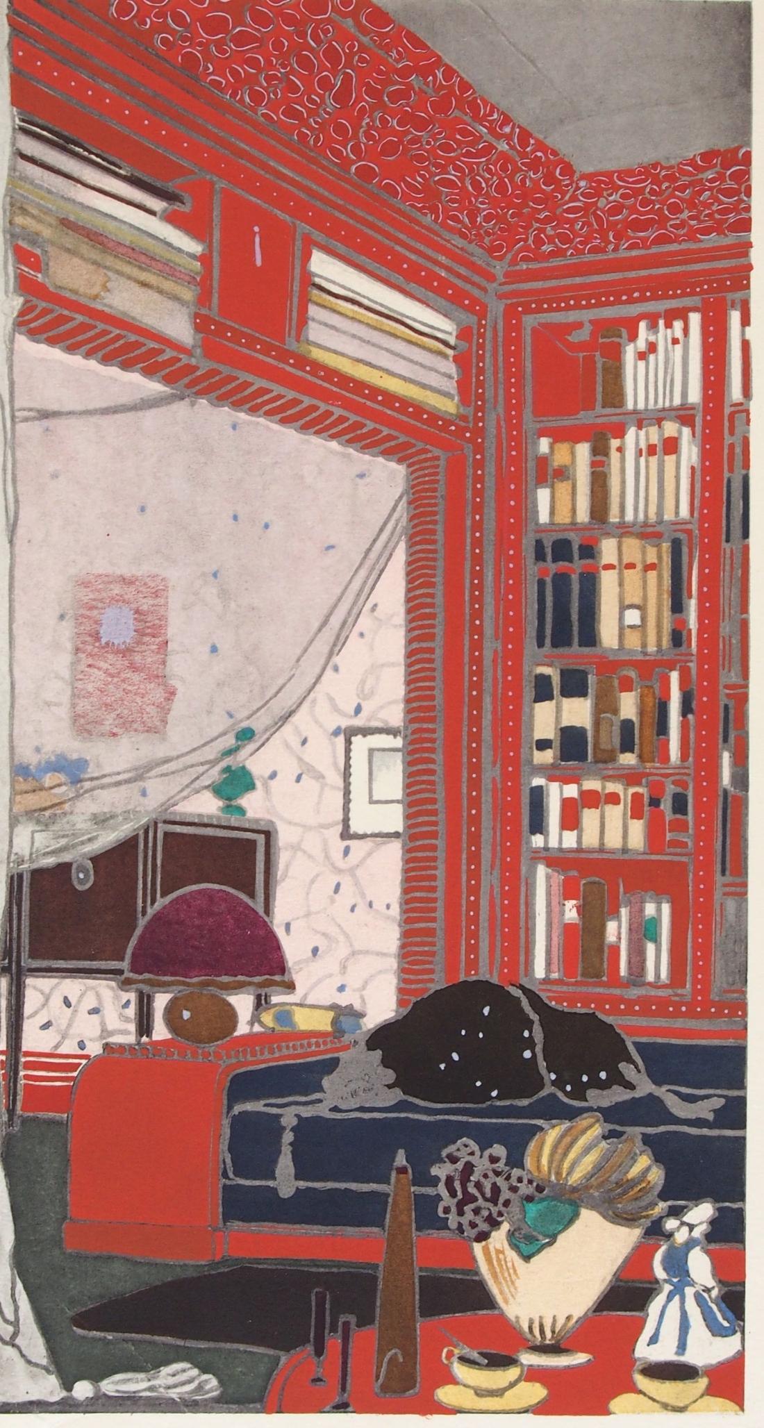 Boudoir-Bibliothèque. 1918. Plate 12.