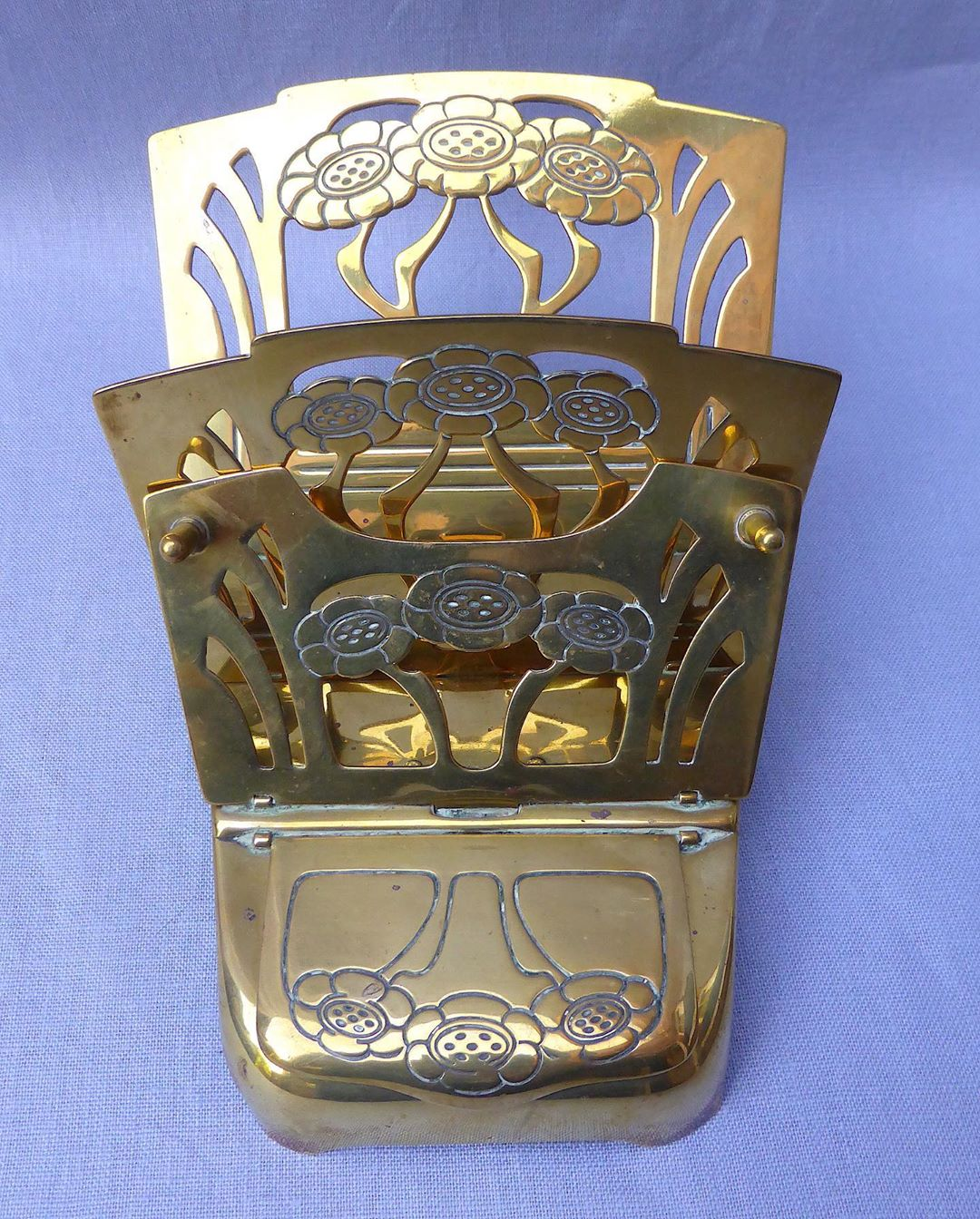 Letter holder with inkwell. Jugendstil.