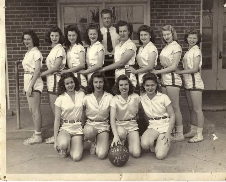 Women's championship high school basketball team, McComb, Mississippi. 1945.