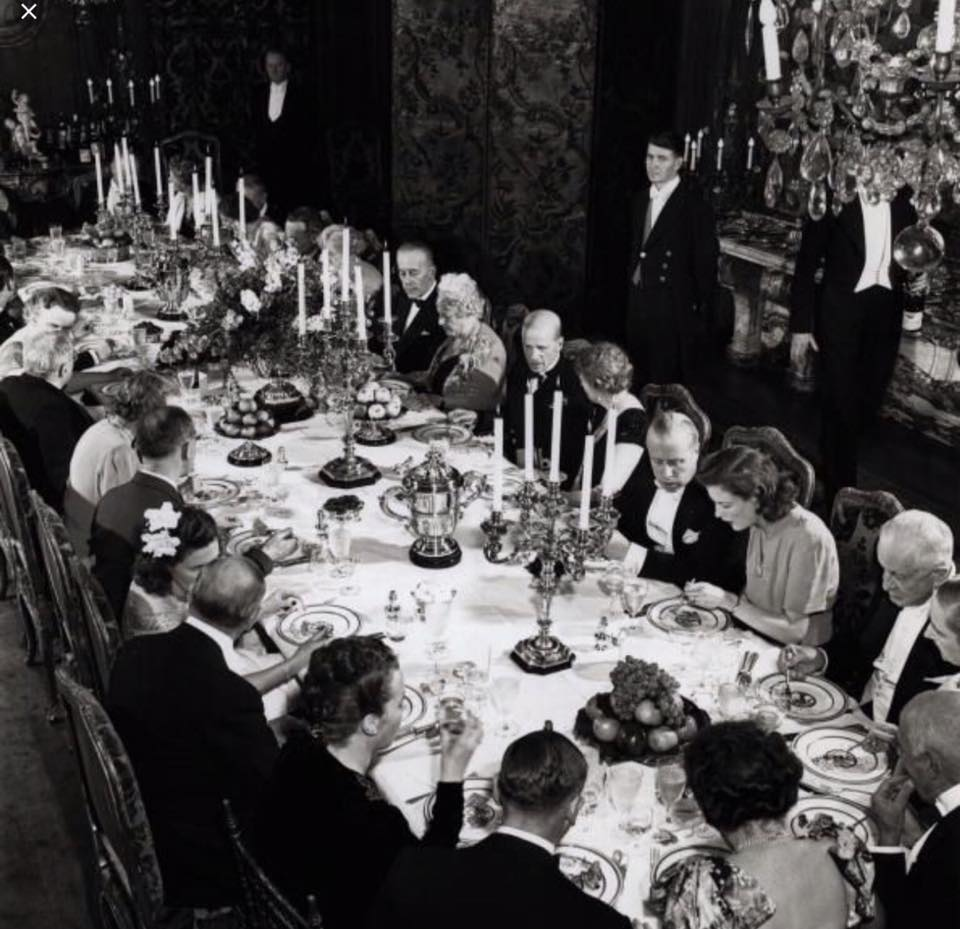 Dinner party at the home of Mrs. Cornelius Vanderbilt. Undated.