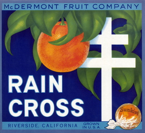 """Rain Cross."" McDermont Fruit Company, Riverside."