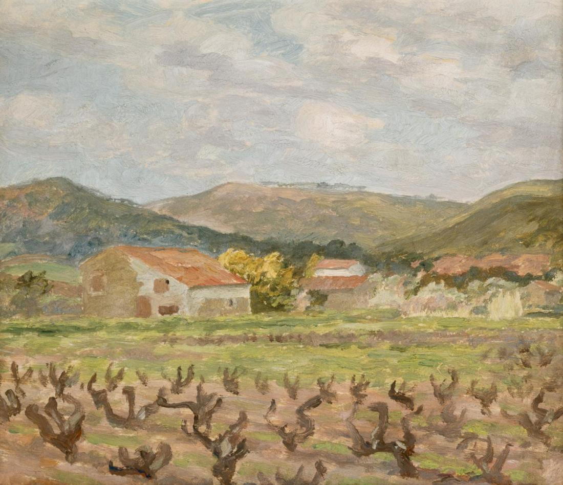 """Vineyard, Sanary."" ca. 1925."