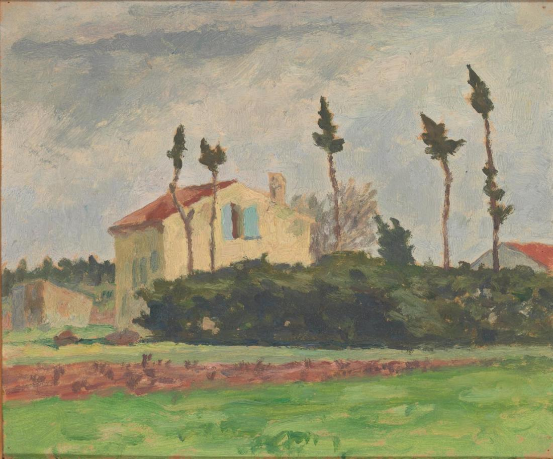 """Landscape sketch, South of France."" ca 1923."