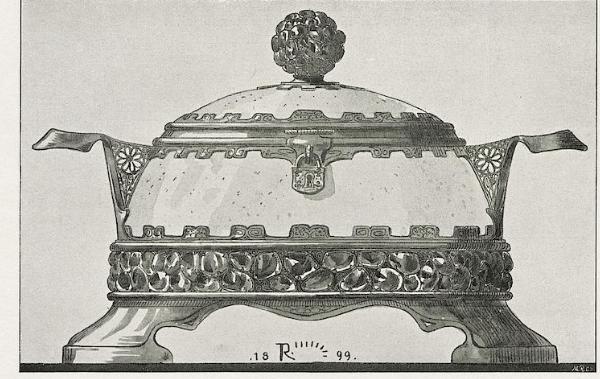 Dish. Silver in an oriental design. 1899.
