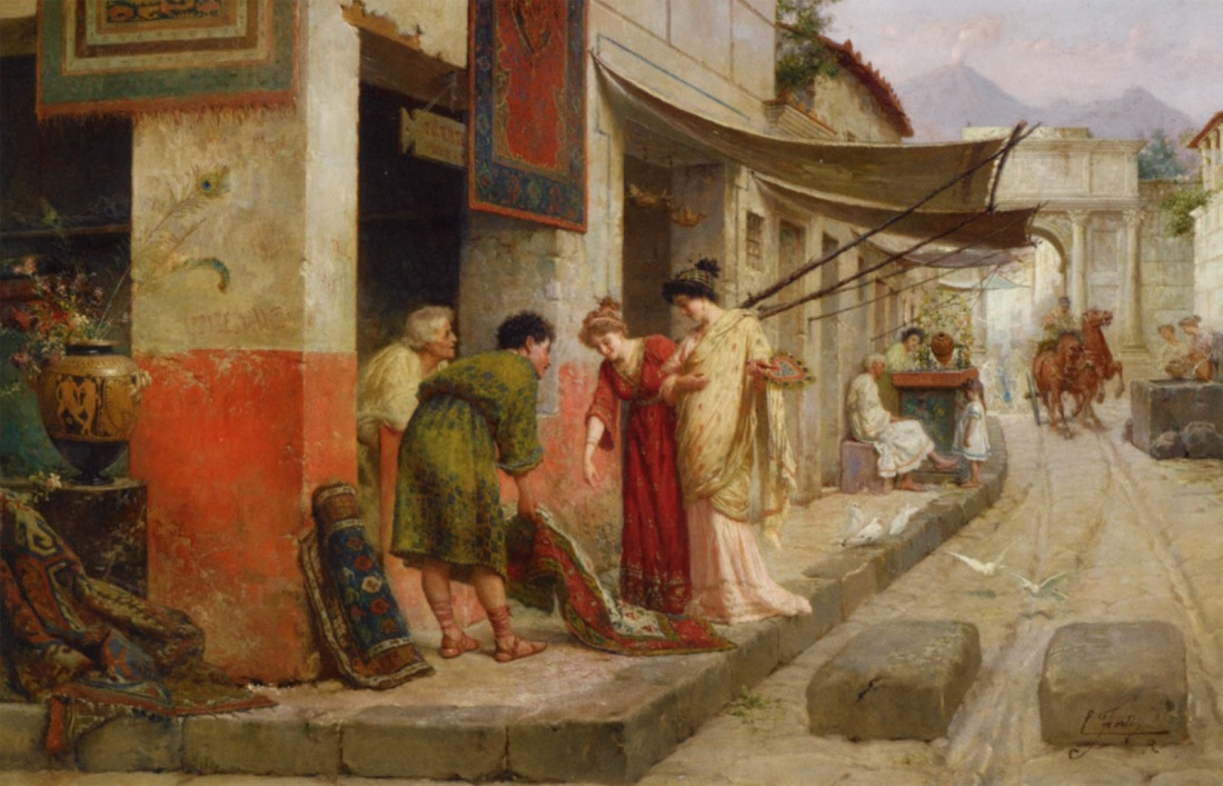Merchant at Pompeii. No date.