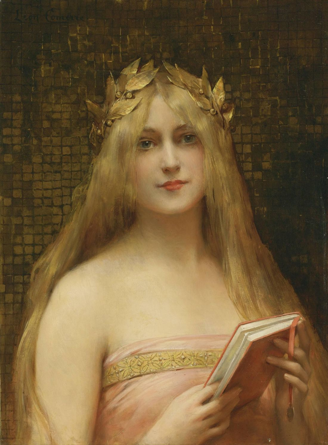 """A Classical Beauty/Girl with a Golden Wreath."" No date."