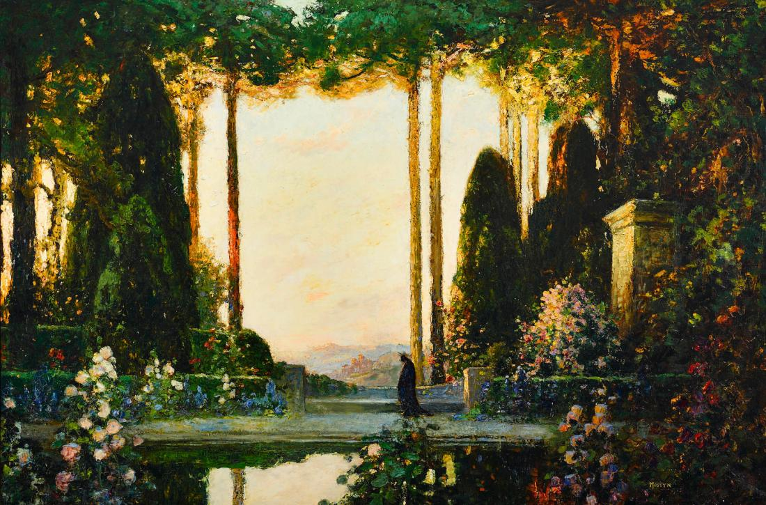"""An enchanted garden."" 1923."