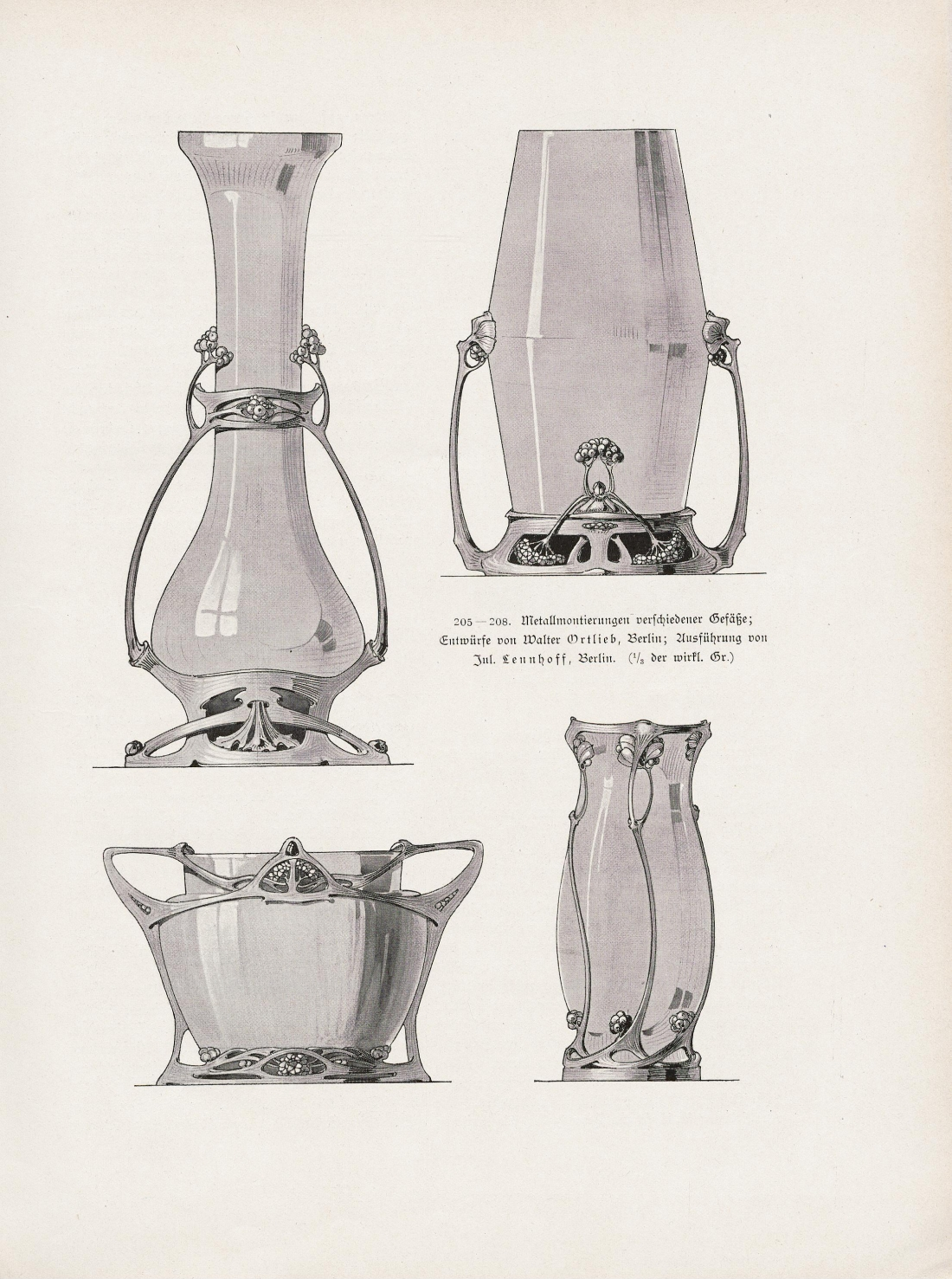 Vases. 1901. Vases. 1901. Illustrations 205-208, page 127.