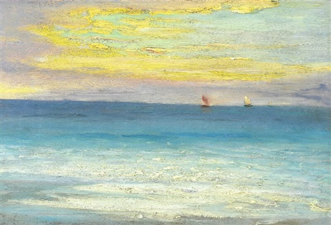 """Evening light, Skagen."" Early 20th c."