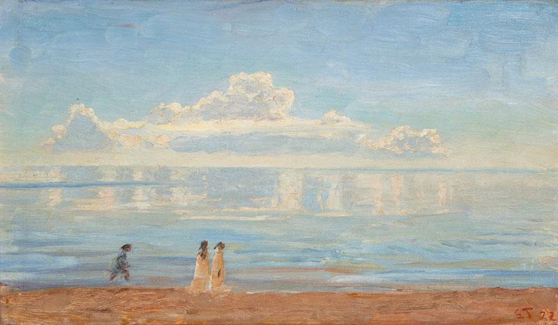 """""""Spaziergänger am Strand von Skagen."""" 1922."""