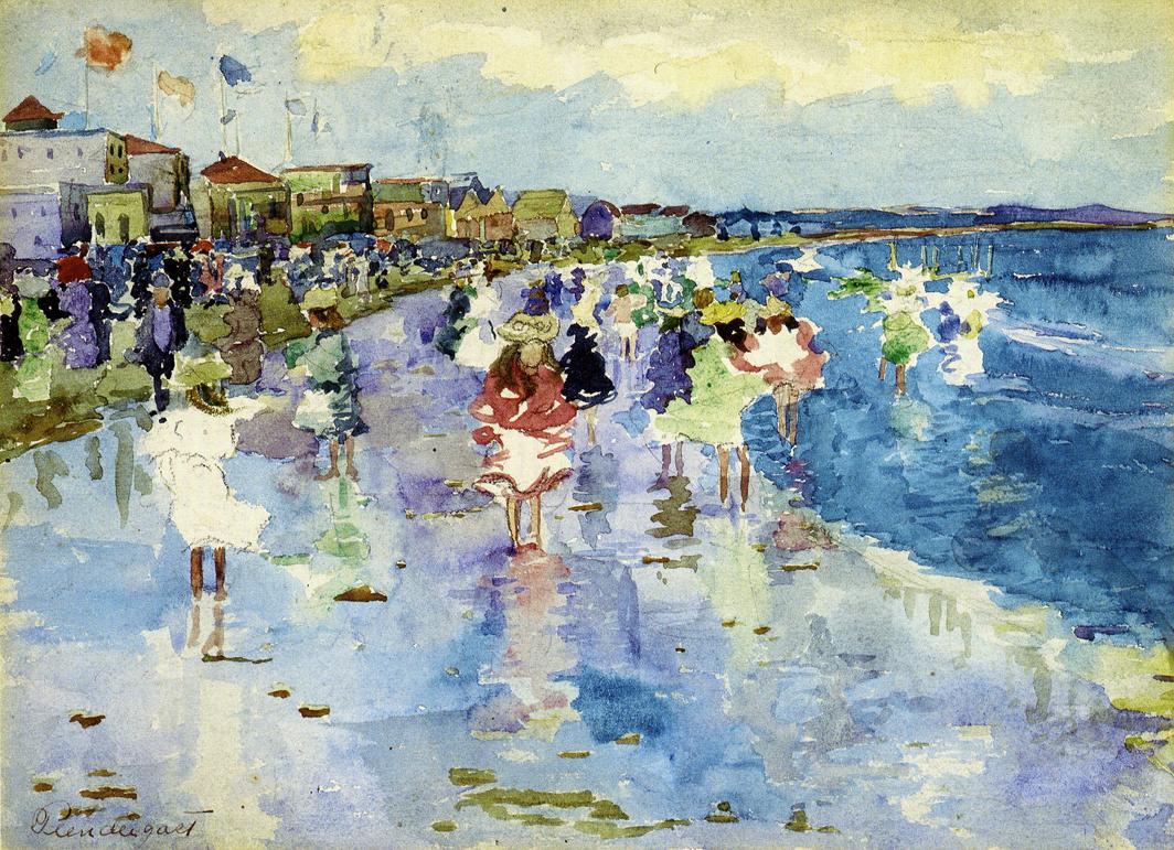 """""""Revere Beach."""" ca. 1896. Private collection."""