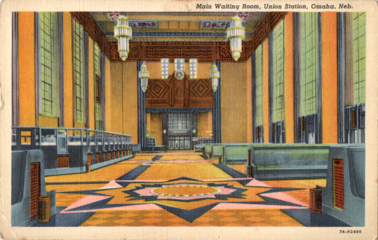 Main waiting room, Union Station, Omaha, Nebraska.