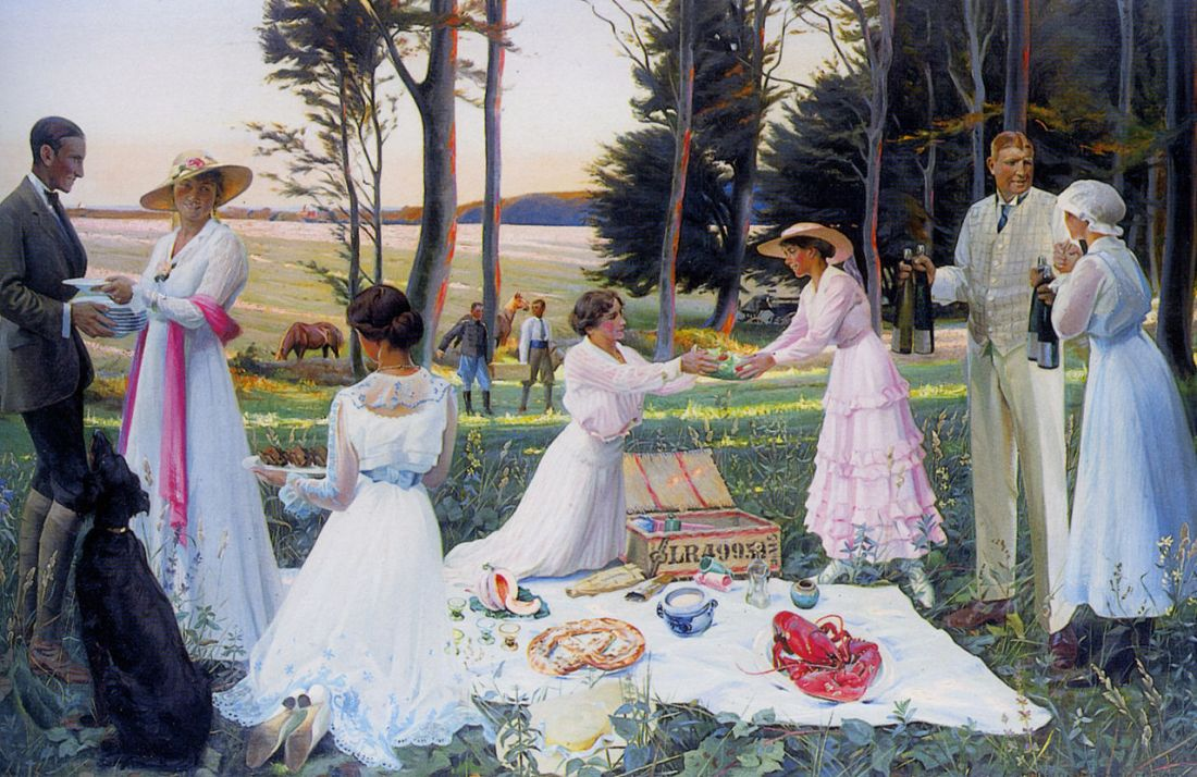 """The Afternoon Picnic."" 1919."