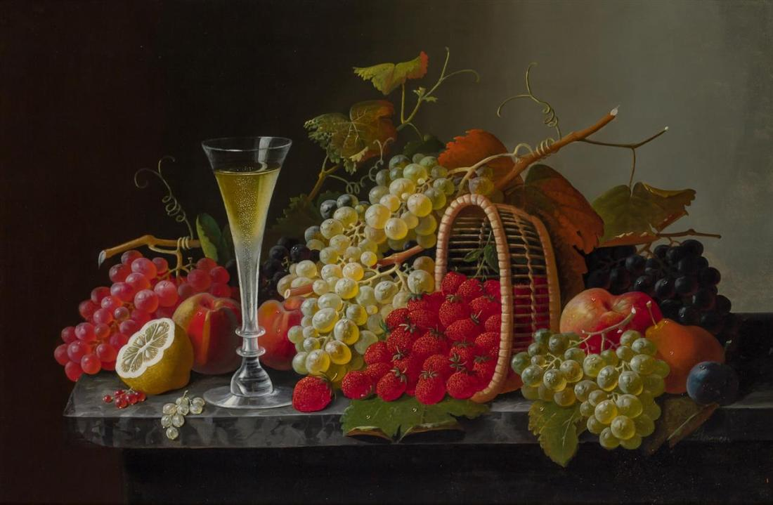 """Still Life with Fruit and Champagne."""