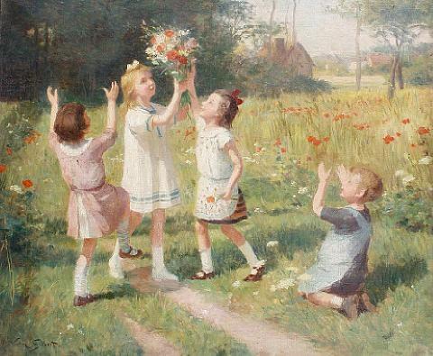 """Picking Wildflowers."" Undated."